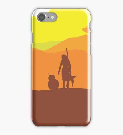 Rey on Jakku - Minimal  iPhone Case/Skin