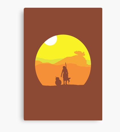 Rey on Jakku - Minimal  Canvas Print