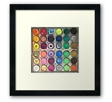 Watercolor Palette Framed Print