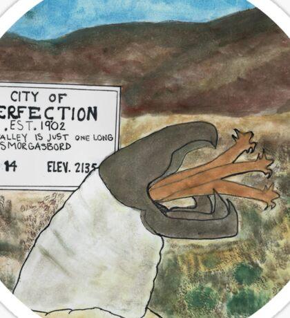 Perfection valley Sticker