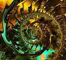 Fire 7 Brago-Mitchell Fine Fractal Art by Vicky Brago-Mitchell