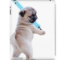 Pug with Lightsaber iPad Case/Skin