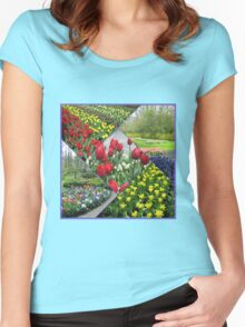Tulips and Hyacinths - Keukenhof Collage Women's Fitted Scoop T-Shirt
