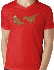 Gingerbread Dinos Mens V-Neck T-Shirt