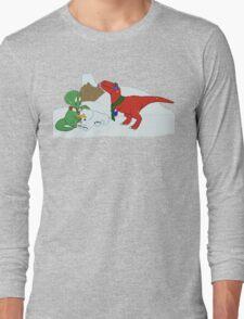 Prehistoric Snow Day Long Sleeve T-Shirt