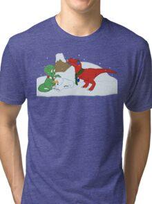 Prehistoric Snow Day Tri-blend T-Shirt