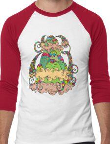 Magic  Mountain Color Men's Baseball ¾ T-Shirt