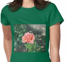 A Gentle Summer Rose Womens Fitted T-Shirt