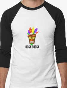 Crash Bandicoot (ooga booga) Men's Baseball ¾ T-Shirt