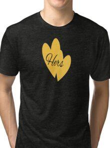 Hers Yellow Tri-blend T-Shirt