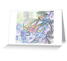 Abstract Beautiful Orchid In Pastel Colors Take 8 Greeting Card