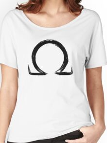 Letter Omega - Black Edition Women's Relaxed Fit T-Shirt
