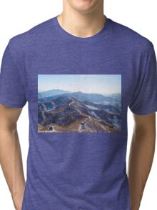 Winter, The Great Wall of China Tri-blend T-Shirt