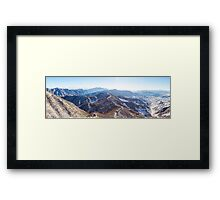 Winter, The Great Wall of China Framed Print
