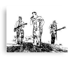 Rascal Flatts Concert Vector Canvas Print