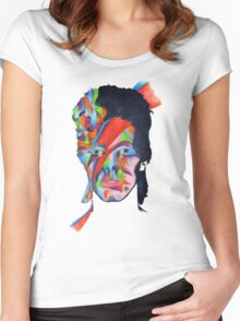 Chameleon (David Bowie - Aladdin Sane) Women's Fitted Scoop T-Shirt