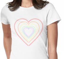 Heart Frame XOX Womens Fitted T-Shirt