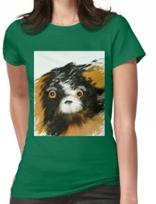 Black and Tan Puppy   Womens Fitted T-Shirt