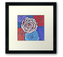 Cool Roses Framed Print