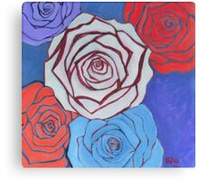 Cool Roses Canvas Print