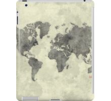 World Map Black Vintage iPad Case/Skin