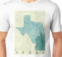 Texas Map Blue Vintage Unisex T-Shirt