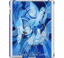 Peace On Earth Greetings With Doves iPad Case/Skin