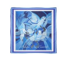 Peace On Earth Greetings With Doves Scarf