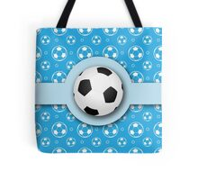 Football Soccer Ball Sport Athletics Fun Blue Pattern Tote Bag
