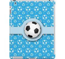 Football Soccer Ball Sport Athletics Fun Blue Pattern iPad Case/Skin