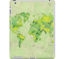 World Green Blue Vintage iPad Case/Skin