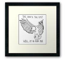 Animals Are Mean: Eagle Framed Print
