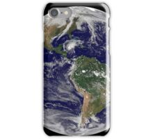 Full Earth showing Hurricane Paloma. iPhone Case/Skin