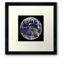 Full Earth showing Hurricane Paloma. Framed Print