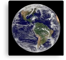 Full Earth showing Hurricane Paloma. Canvas Print