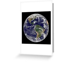 Full Earth showing Hurricane Paloma. Greeting Card