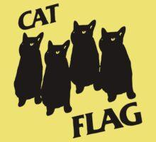 Black Flag Cat One Piece - Short Sleeve