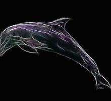 Medicine Wheel Totem Animals by Liane Pinel- Dolphin by Liane Pinel