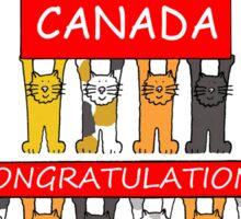 Canadian Citizenship Congratulations Sticker