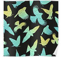 - Paper birds pattern - Poster