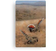 Protoceratops Confrontation Canvas Print