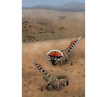 Protoceratops Confrontation Photographic Print