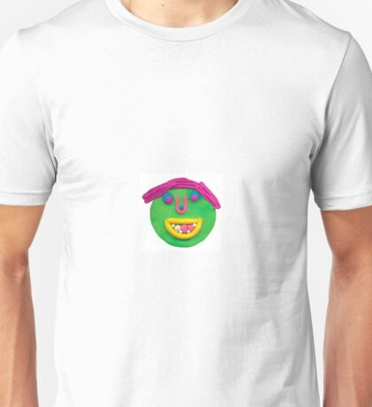 silly green face Unisex T-Shirt
