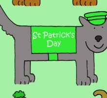 St Patrick's Day Dogs in Coats. Sticker