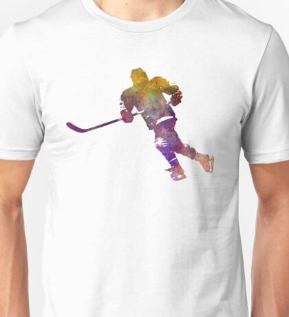 Skater with stick in watercolor Unisex T-Shirt