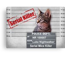 LUKE - The Serial Mice Killer Canvas Print