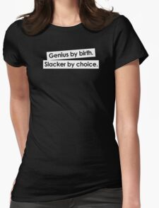 GENIUS BY BIRTH Womens Fitted T-Shirt