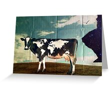 Surreal Bovine Atlas Greeting Card
