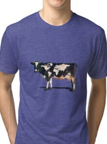 Surreal Bovine Atlas Tri-blend T-Shirt