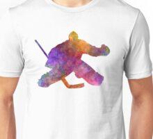 Hockey porter in watercolor Unisex T-Shirt